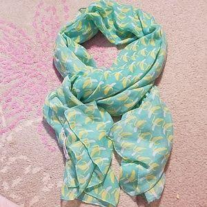 Printed village banana print scarf